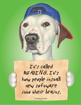 Fun Dog Poster with Quote Jeb3 Pit Bull Mix