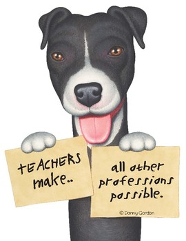 Fun Dog Poster with Quote Lucky4 Pit Bull