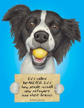 Fun Dog Poster with Quote Marge3 Border Collie