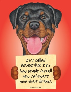 Fun Dog Poster with Quote Maximus3 the Rottweiler