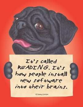 Fun Dog Poster with Quote Mugsy3 Pug