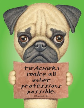 Fun Dog Poster with Quote Norah4 Pug