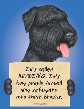Fun Dog Poster with Quote Olivia3 Bouvier Des Flandres