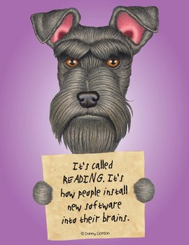 Fun Dog Poster with Quote Penny3 Schnauzer