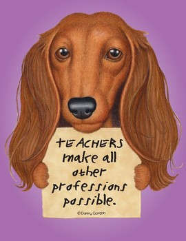 Fun Dog Poster with Quote Ruby4 Dachshund
