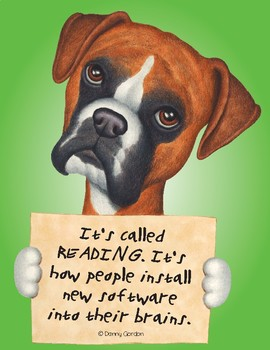 Fun Dog Poster with Quote Savannah3 Boxer
