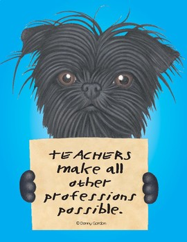 Fun Dog Poster with Quote Scrappy4 Affenpinscher