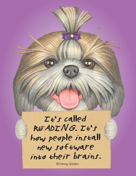 Fun Dog Poster with Quote Stella3 Shih Tzu