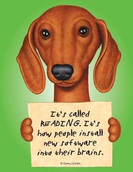 Fun Dog Poster with Quote Tootsie3 Dachshund