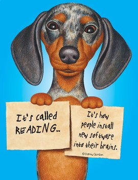 Fun Dog Poster with Quote Whitney3 the Dachshund
