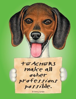 Fun Dog Poster with Quote Zac4 Beagle