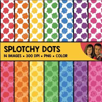 Splotchy Dot Backgrounds