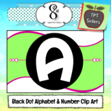 Fun Dots Alphabet and Number Clip Art