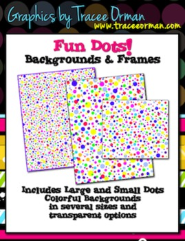 Fun Dots Backgrounds & Frames for Commercial Use