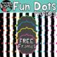 Fun Dots Digital Papers with FREE BONUS Frames