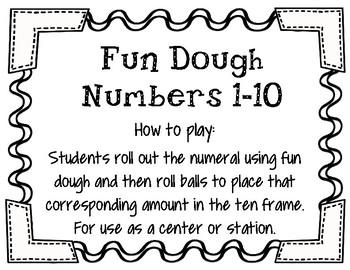 Fun Dough Numbers Center