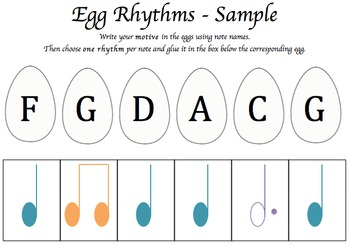 Fun Easter Composing Activity - Egg Hunt and Composing by Chance!