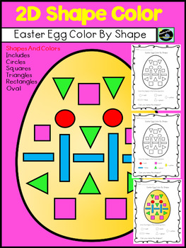 Fun Easter Egg Freebie Color By 2D Shape