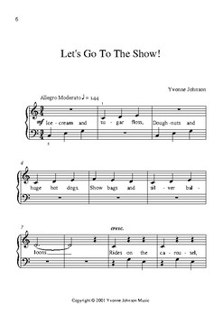 Fun & Easy 1 - 5 Easy Piano Pieces With Lyrics Beginner - Level 1