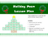 Fun & Easy 5 Line Winter Holiday Poem Lesson