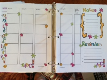 Fun Easy to Use Lesson Plan Template Colorful
