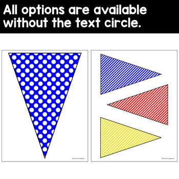 Editable Pennant Banners in Primary Colors (blue, red & yellow)