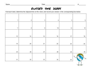 Fun, Elapsed Time Task Cards Set