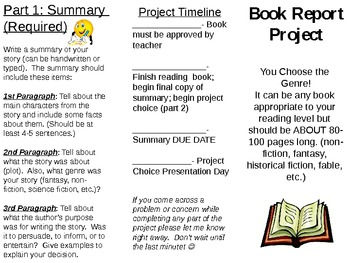 Diorama Book Report Worksheets & Teaching Resources | TpT