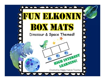 Fun Elkonin and Sound Boxes Mats - Dinosaur and Space Theme