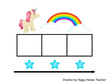 Fun Elkonin and Sound Boxes Mats - Horse and Unicorn Theme