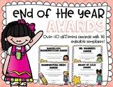 Fun End Of Year Awards (EDITABLE)