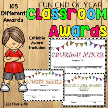 fun end of year classroom awards editable by unique ideas with mrs s