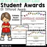 Fun End Of Year Classroom Awards Editable