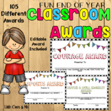 Fun End Of Year Classroom Awards Editable