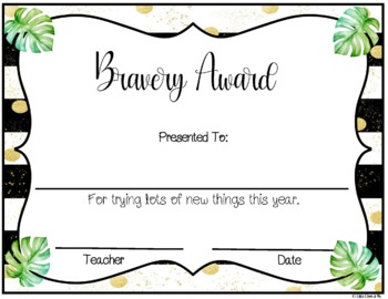 Fun End Of Year Classroom Awards Editable Upper Grades