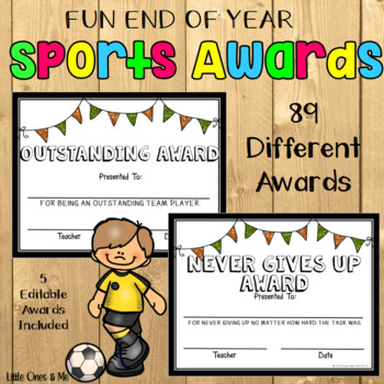 fun end of year sports awards editable by unique ideas with mrs s