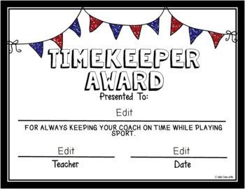 Fun End Of Year Sports Awards Editable