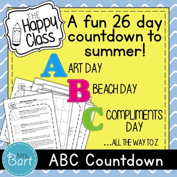 Fun End of Year Activity: ABC DAYS!