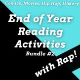 Fun End of Year Reading Activities and Passages Using Rap Songs Bundle #2