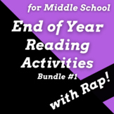 Fun End of Year Reading Activities for Middle School Using Rap Songs