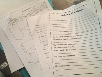 Fun End of the Year Printable Memory Book!  Easy to print, and personalize!