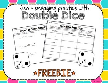 Fun & Engaging Practice with Double Dice *FREEBIE*