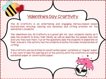 Fun & Engaging Valentine's Day Craftivity-Elementary