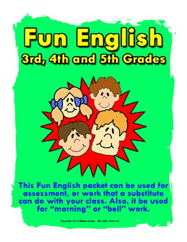 Fun English 3rd to 5th Grade.  ELA.  Great for morning or bell work.