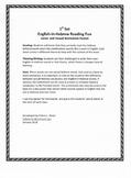 Fun English-in-Hebrew Reading Practice - Set 1