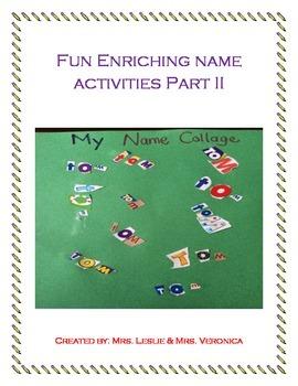 Fun Enriching Name Activities Part II