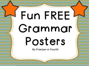 Fun FREE Grammar Posters