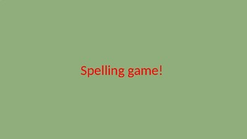 Fun FREE Spelling Game for Upper Primary! 4th Grade and beyond!