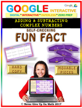 Fun Fact: Adding & Subtracting Complex Numbers (Google Interactive & Hard Copy)