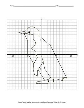 Fun Fact Coordinate Graphing Picture: Penguin